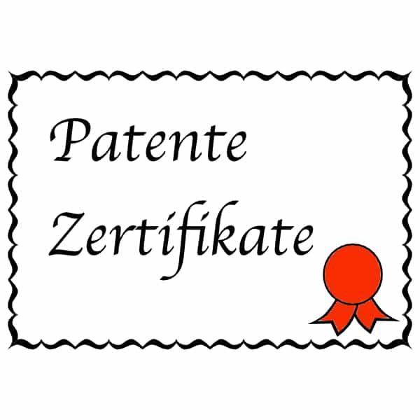 Patente & Zertifikate für Amazon FBA