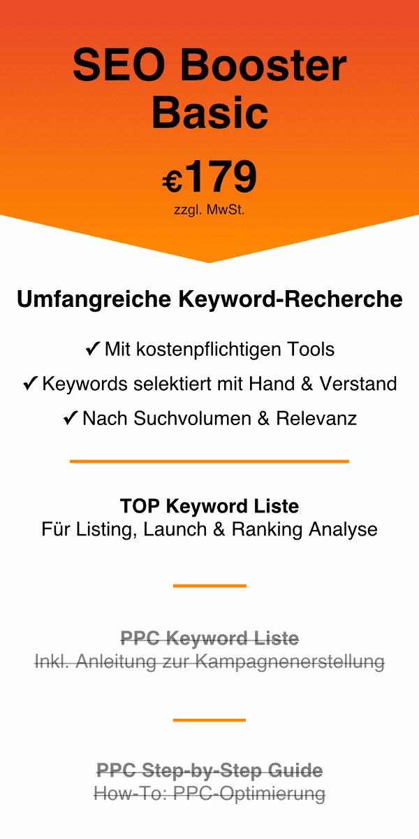 Amazon Keyword Recherche SEO Booster Basic 2021