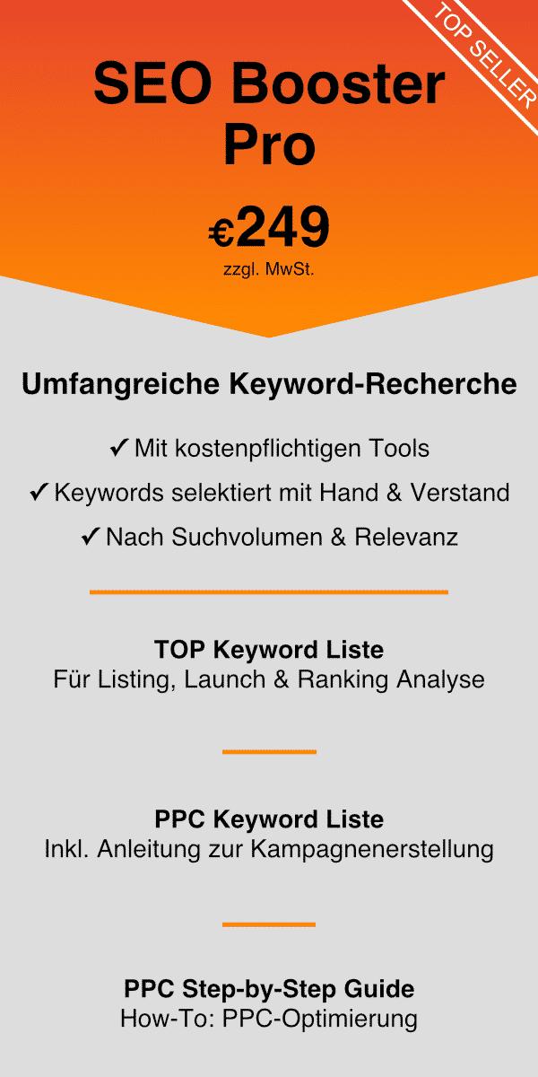 Amazon Keyword Recherche SEO Booster Pro 2021