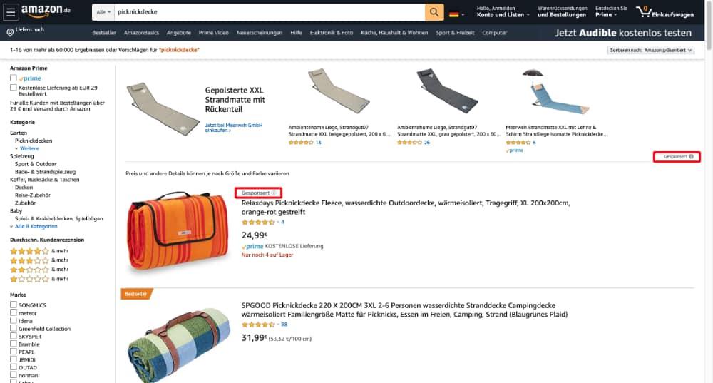 gesponserte Anzeigen Auf amazon - Amazon PPC Werbung